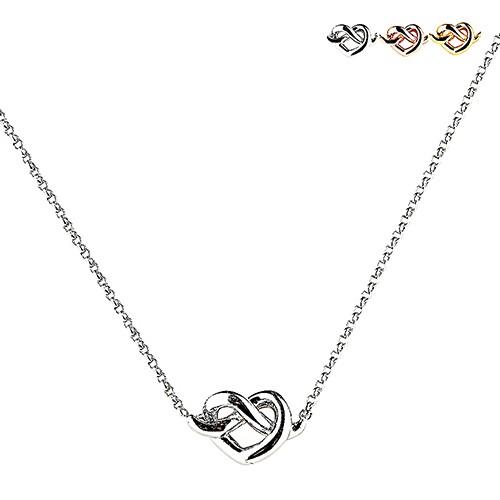 kate spade經典愛心結設計鑽鑲飾項鍊(三色) 廠商直送