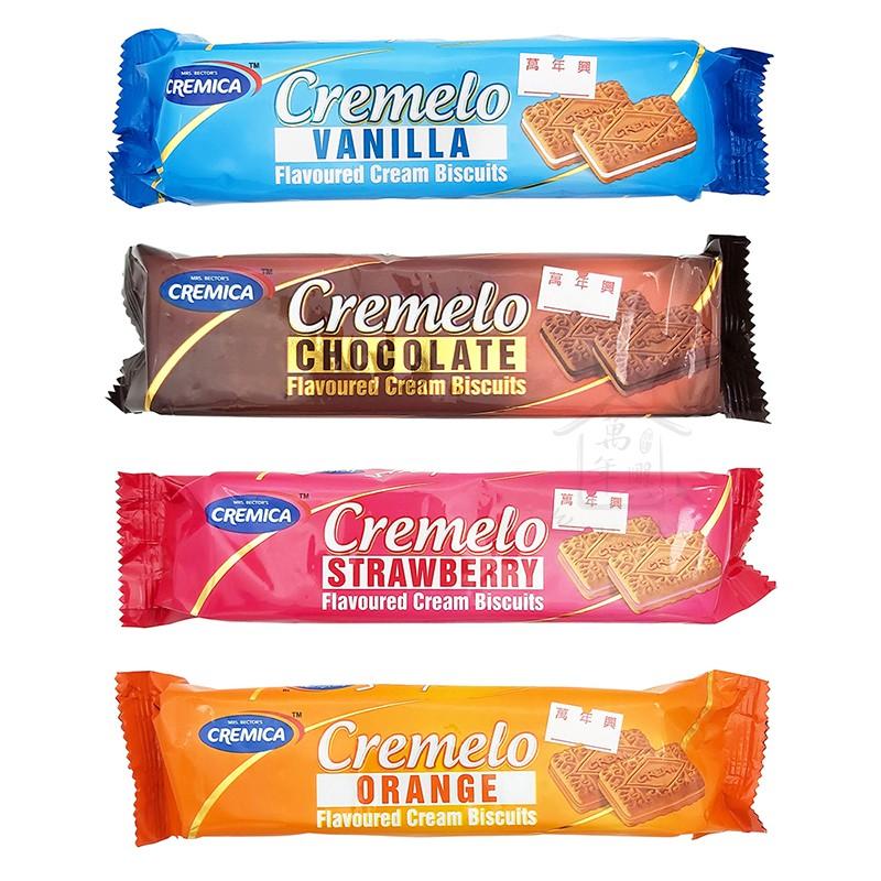 可尼佳 夾心餅乾 香草 巧克力 草莓 柳橙 90g 印度 Cremica Cremelo 全素 清真 【萬年興】