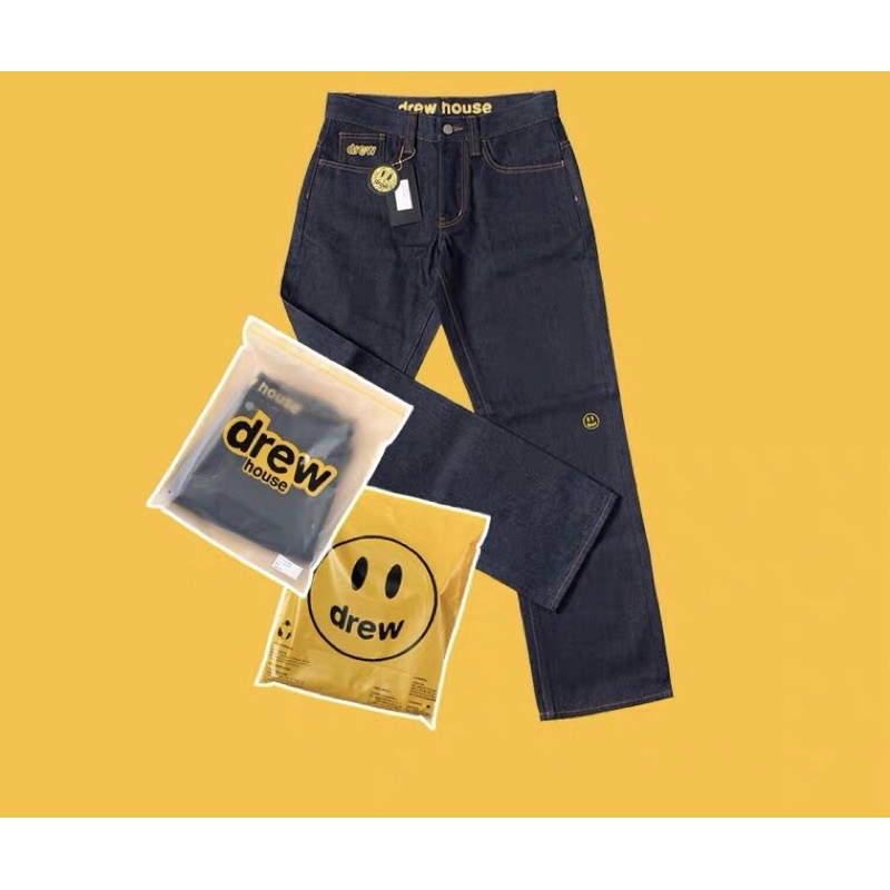 [Suu代購]DREW HOUSE JUSTIN字母刺繡寬鬆直筒牛仔褲