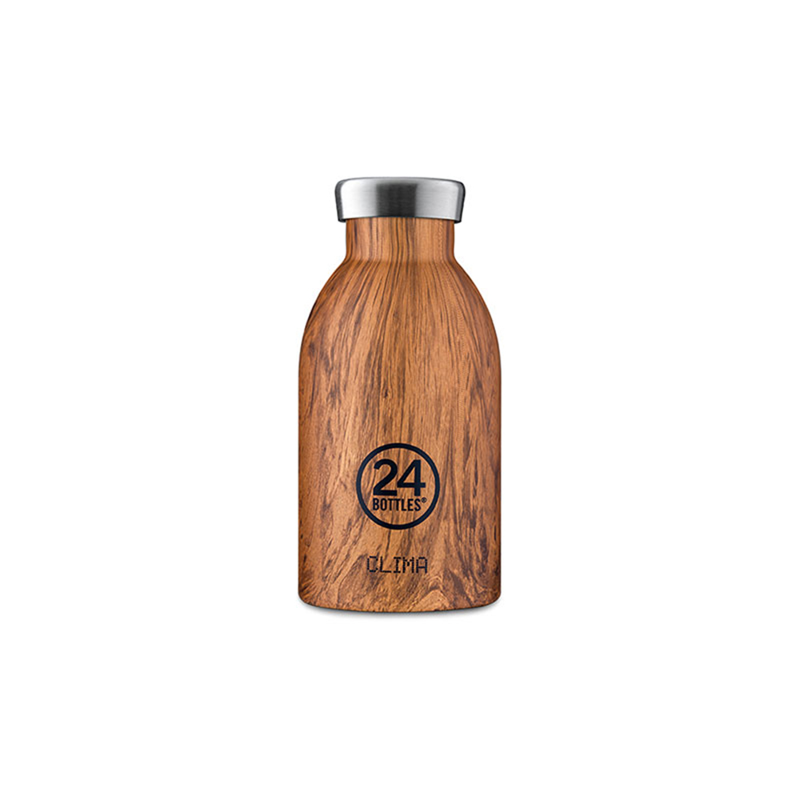 【24Bottles 城市水瓶】不鏽鋼雙層保溫瓶 330ml/紅杉木紋