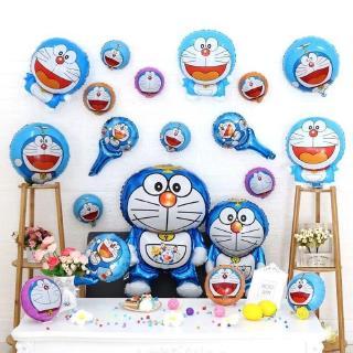 叮噹貓大集合 超大號哆啦A夢18寸圓形機器貓哆啦A夢鋁膜氣球兒童生日派對裝飾布置