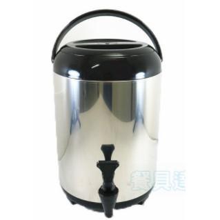 (二手)日式茶桶10L(黑)【台灣製造正304內膽SGS檢驗】 保溫茶桶日式不鏽鋼保溫桶不銹鋼冰桶泡沫紅茶桶奶茶桶非