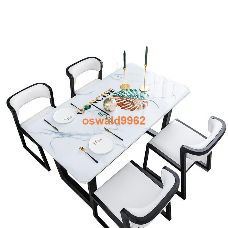 ஐ◐幸福居 北歐桌布防水防油免洗網紅ins茶幾桌布軟玻璃餐桌墊pvc家用厚桌墊