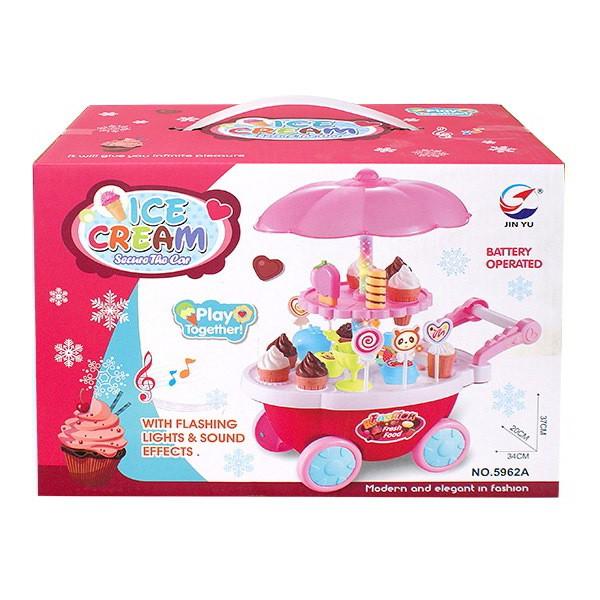 家家酒玩具 聲光冰淇淋手推車【酷比樂】