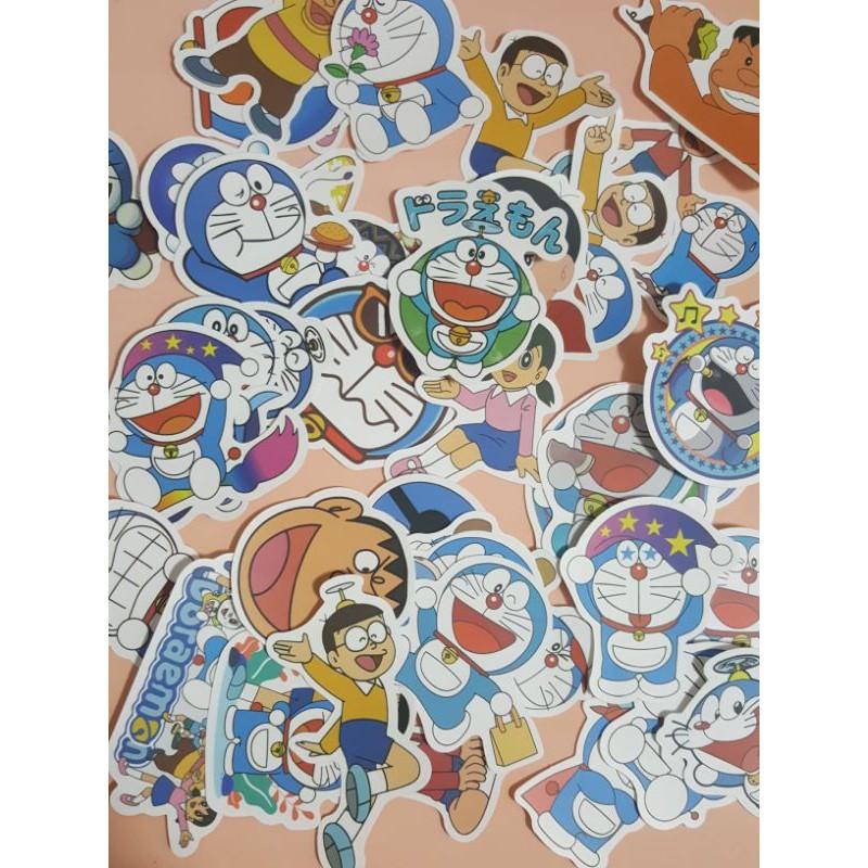 一組20張~哆啦A夢 防水貼紙 行李箱貼紙 筆電貼紙
