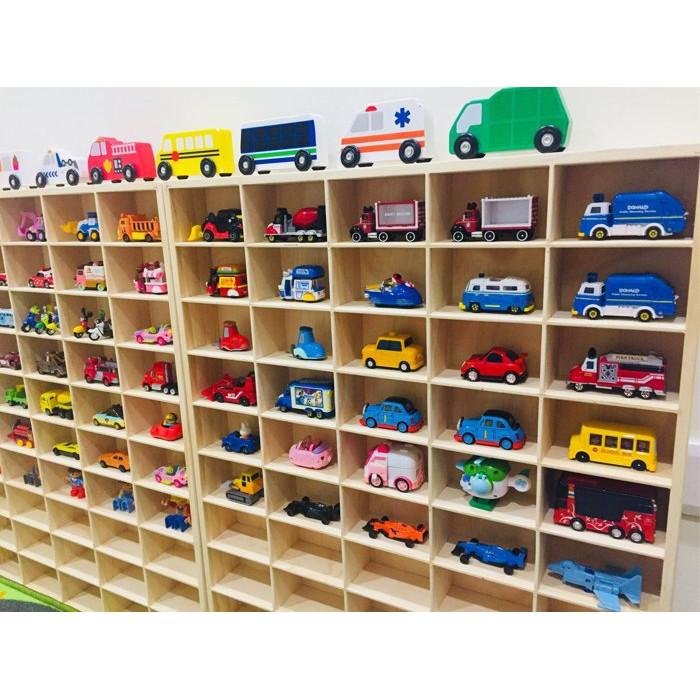 Audrey X Baby // 實木50格木框小汽車收納櫃 多美tomica小車 迪士尼小車