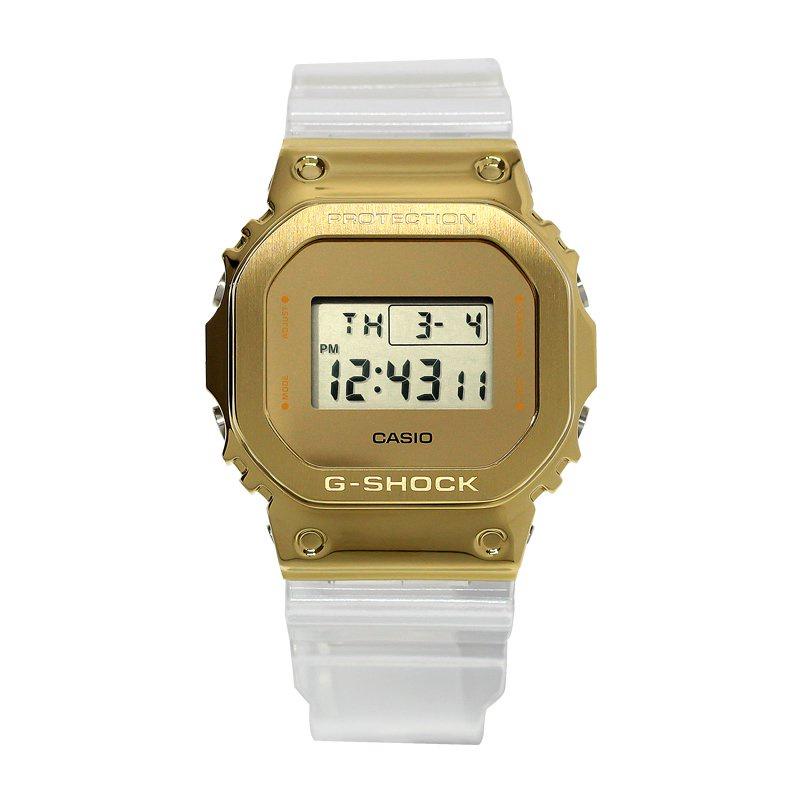 CASIO卡西歐G-SHOCK透明制勝金屬方塊手錶男GM-110SG/GM-5600SG-9