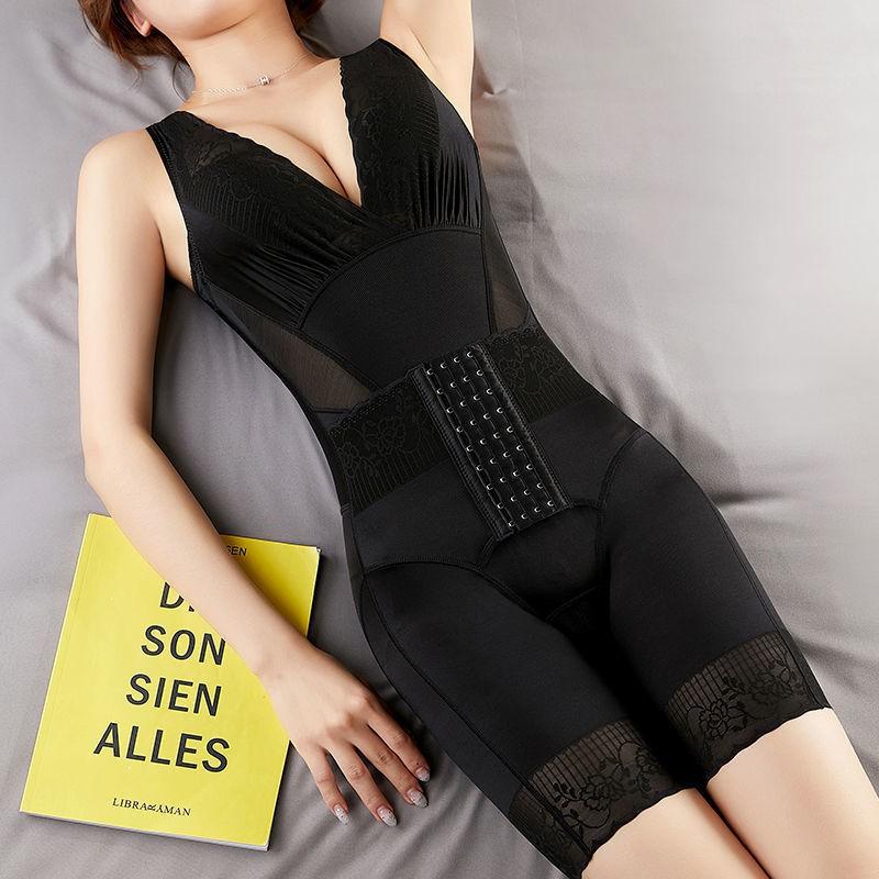 連體塑身衣美人計前排扣收腹燃脂產后減肥蘇塑型提臀束腰美體內衣 產後收腹帶 美體塑身衣 收腰燃脂塑身衣 瑜伽健身內衣
