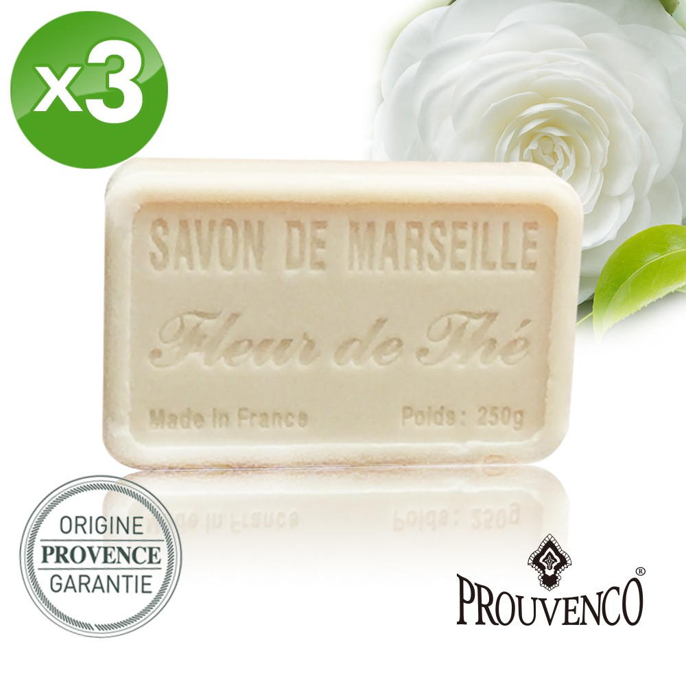 【PROUVENCO】法國原裝普羅旺詩香氛馬賽皂-茶花(250gx3)