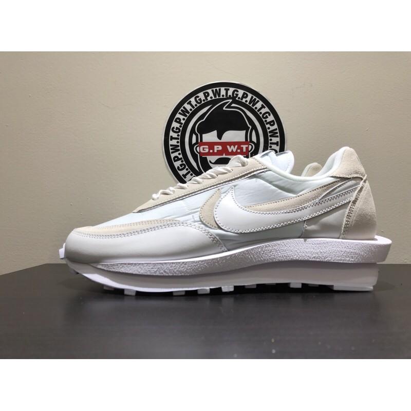 ●G.P.W.T●Sacai ❌ Nike LDV Waffle Daybreak 綢緞白 解構鞋 男女同款