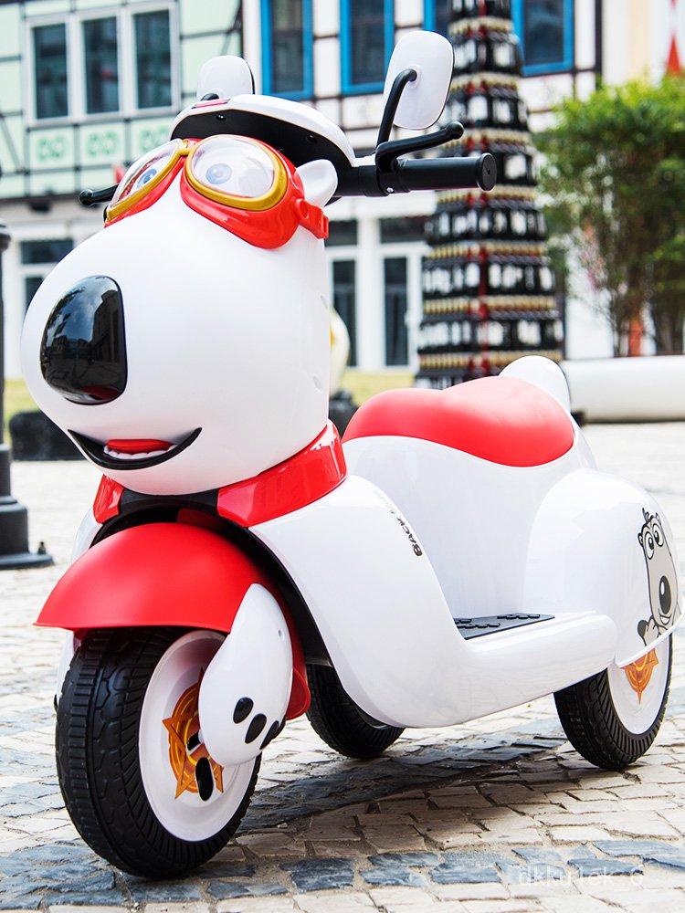 【四輪遙控汽車】兒童電動車三輪摩托車史努比兒童車男女小孩寶寶玩具車可坐人童車