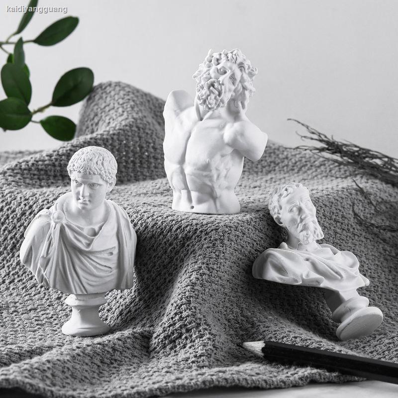 1224北歐藝術石膏雕像迷你小擺件房間臥室裝飾品ins桌面客廳雕塑擺設