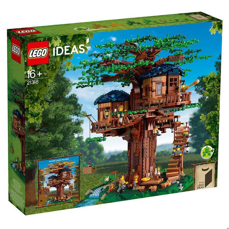 台灣詩雅精品小店 【全新正品】樂高LEGO 21318樹屋Ideas系列百變拼搭積木moc櫻花