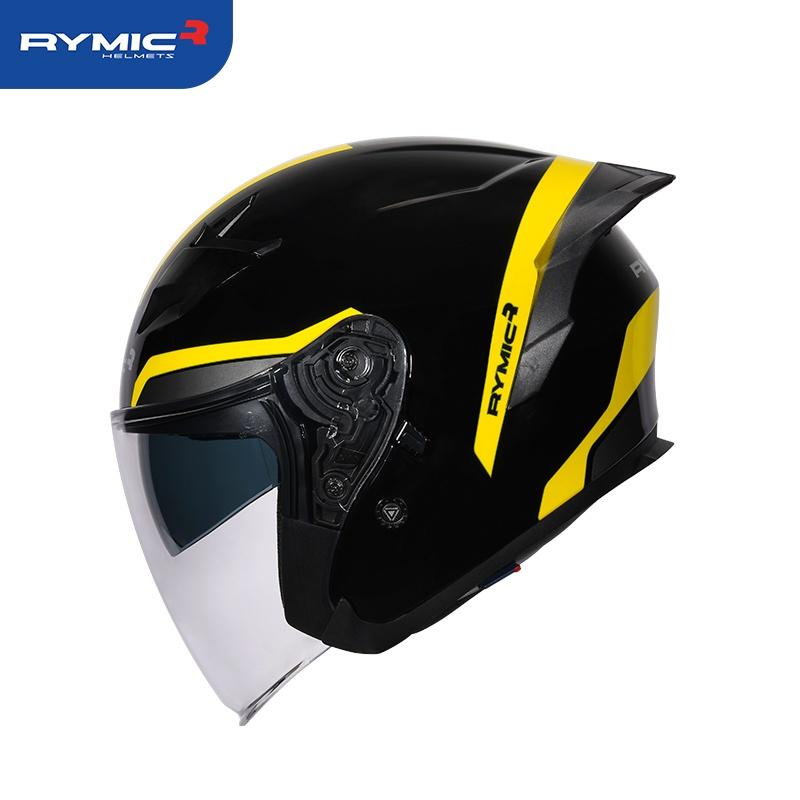 半罩式安全帽  RYMIC R878可拆洗 耳機槽 安全帽 雙鏡片 尾翼