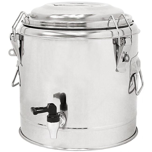正304不鏽鋼10L茶水桶D084-DS10L雙層10公升冰桶開水桶.保溫桶保溫茶桶.不銹鋼保冰桶保冷桶.手提冷熱飲料桶