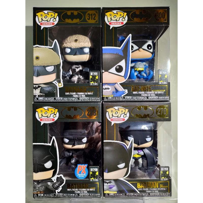 DC 黑盒 蝙蝠俠80週年系列 Batman Funko POP #270、#288、#300、#312