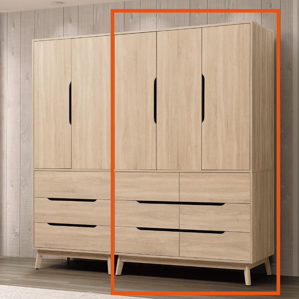 【120cm衣櫃-B70-03】木心板 推門滑門開門 衣服收納 免組裝【金滿屋】