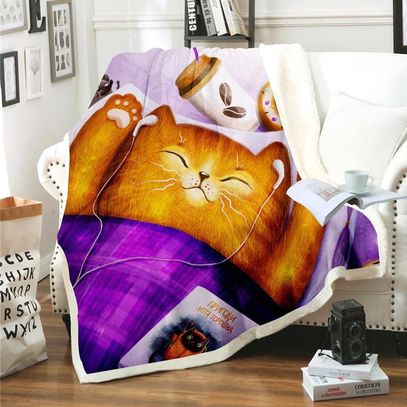 【現貨】大牌毛毯 毯子 披毯 保暖 加厚 毛毯定制毯子現代風懶人毯法蘭絨毛毯3D高清數碼印花毯方形毯定制