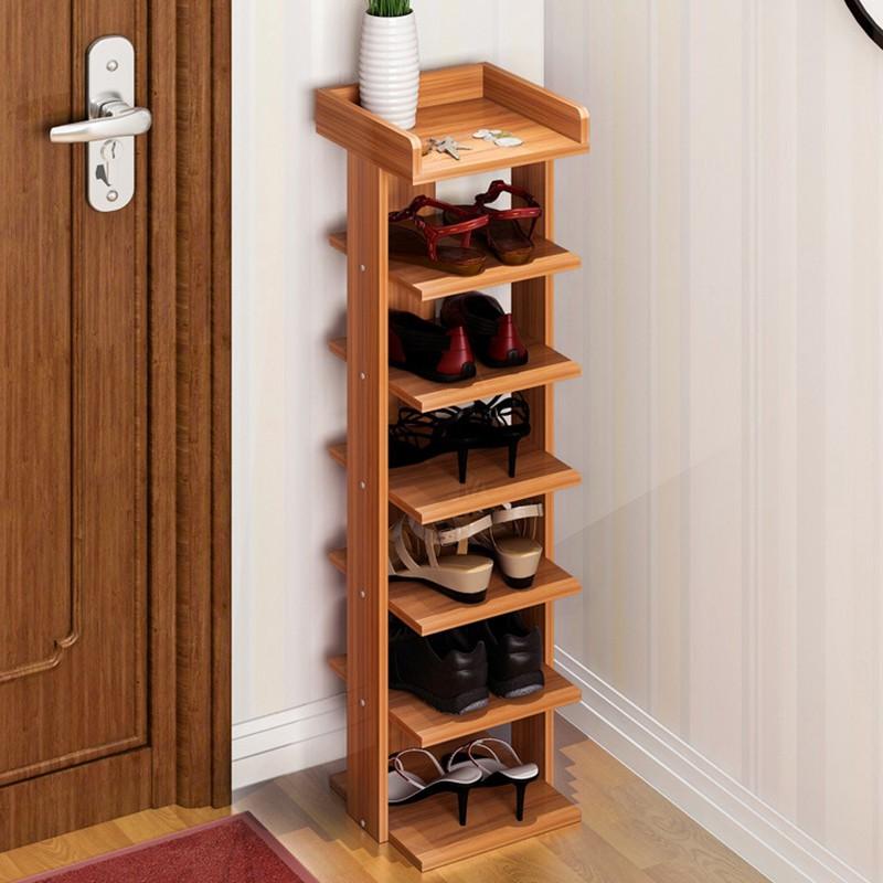 居家鞋架特價經濟型家用家里人墻角六層木質宿舍多層簡易鞋柜 鞋架子千千百貨