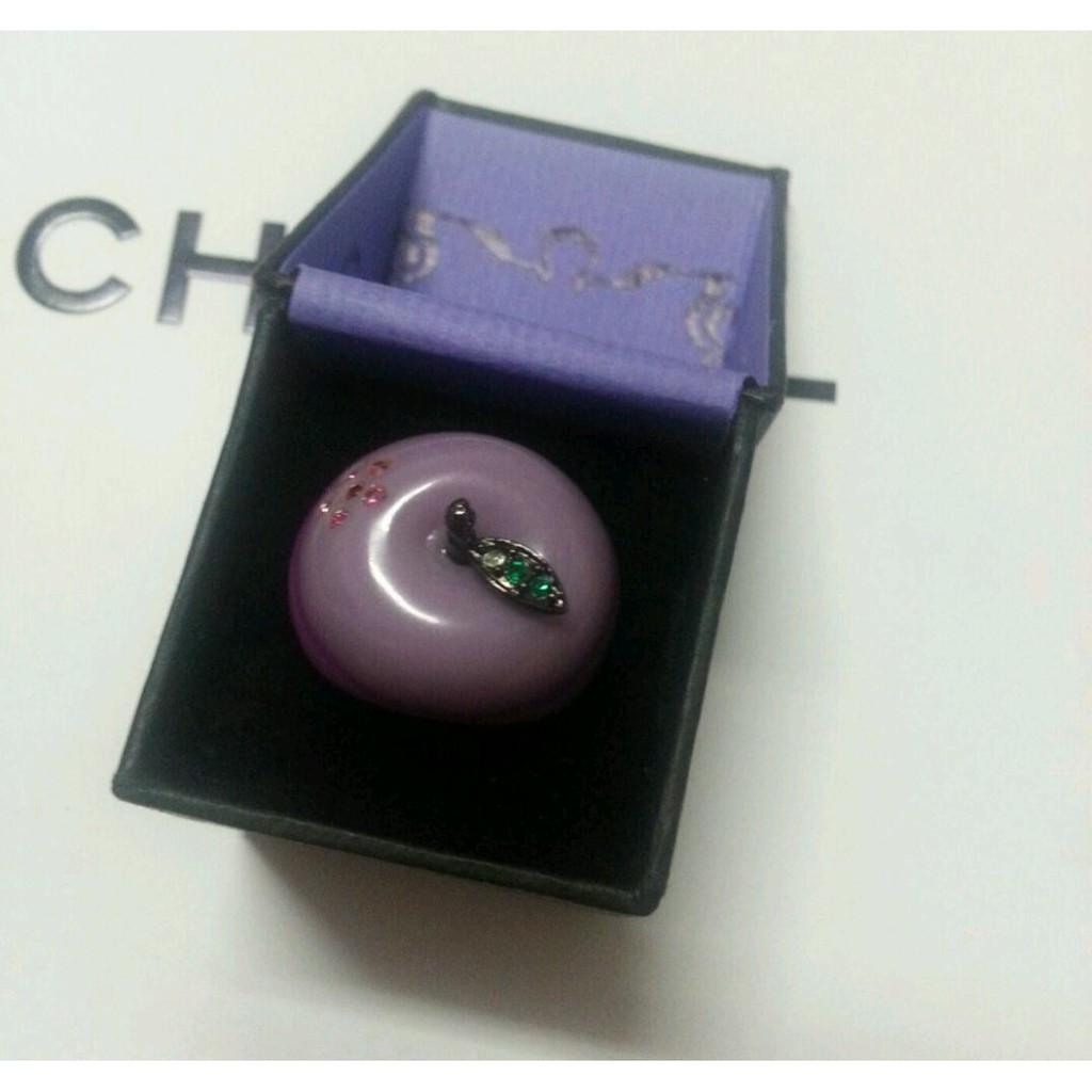 全新Anna sui戒指 100%飾品櫃正貨 紫色蘋果水鑽戒指,特賣出清