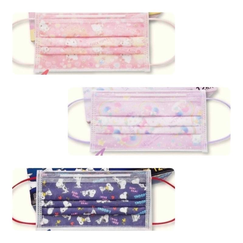 禾匠成人防護口罩 三麗鷗 史努比/Hello Kitty/雙子星 12入 成人口罩