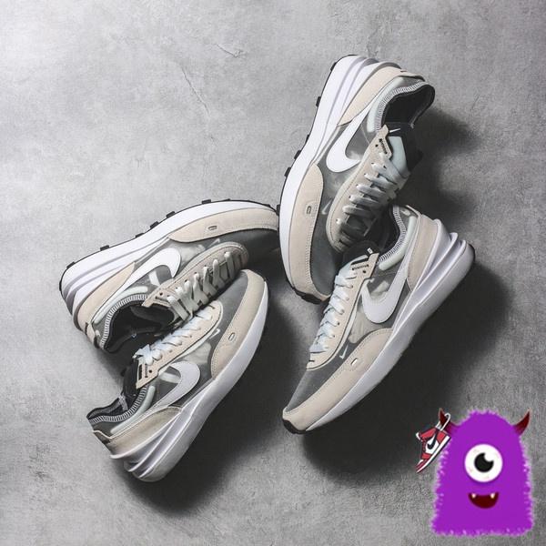 火星人store NIKE WAFFLE ONE SACAI 奶油白 小迪奧 解構 慢跑鞋 DA7995-100-001
