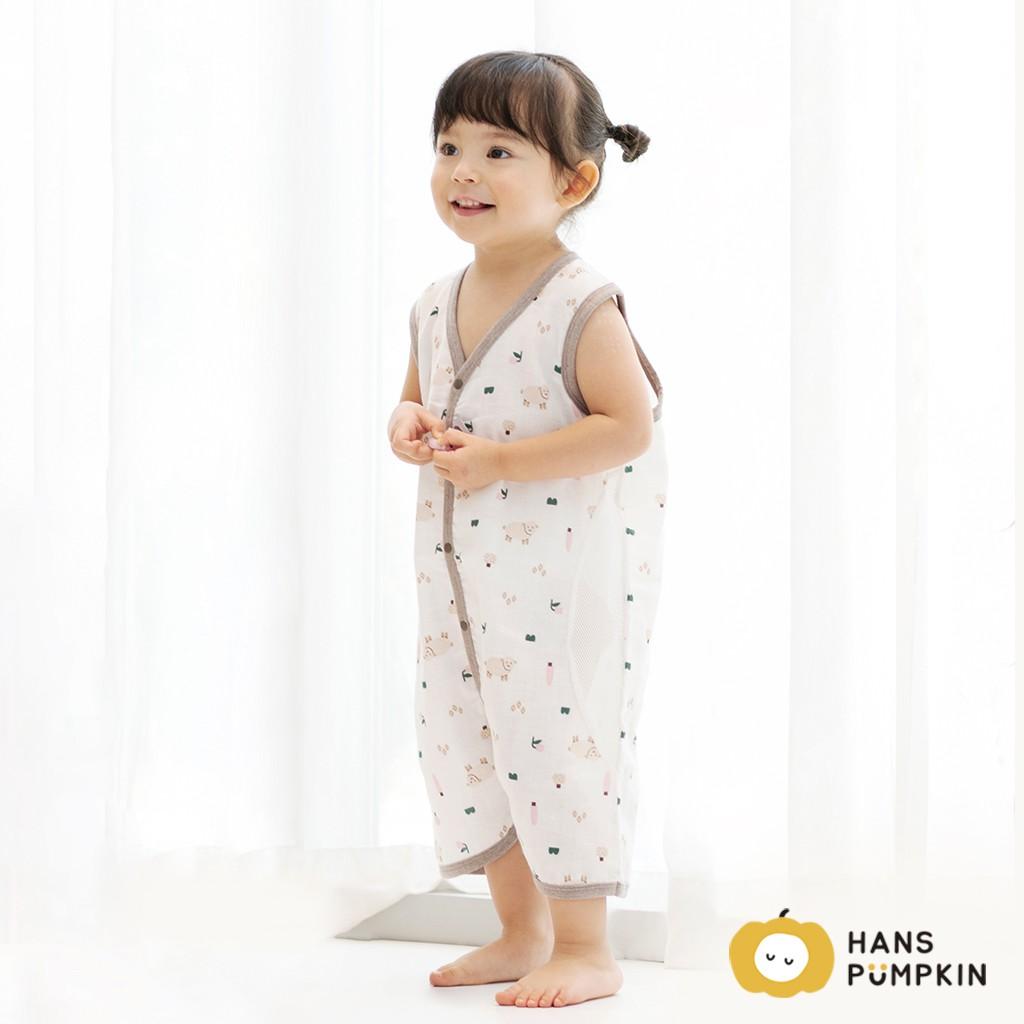 [HANSPUMPKIN] 韓國官方商店- Unisex 夏天棉質嬰兒無袖可穿按鈕睡袋(0至5歲適用)