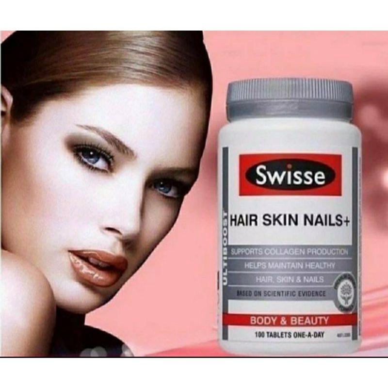 澳洲Swisse Ultiboost Hair Skin Nails+ 膠原蛋白片彈力美肌青春錠(100粒),3個半月份