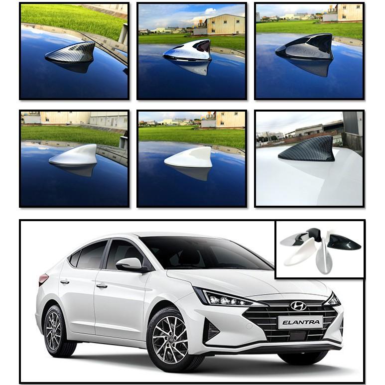 圓夢工廠 Hyundai Elantra / Elantra sport 2021~on 鯊魚鰭 黑 銀 白 鍍鉻 碳纖