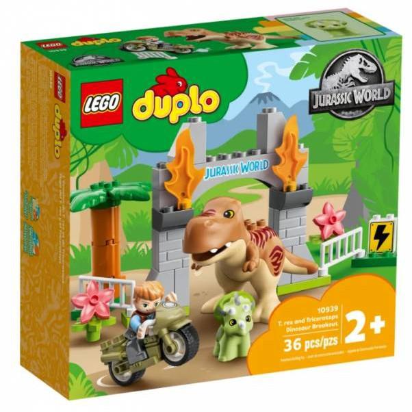 樂高 LEGO 10939 Duplo-侏儸紀暴龍與三角龍逃脫