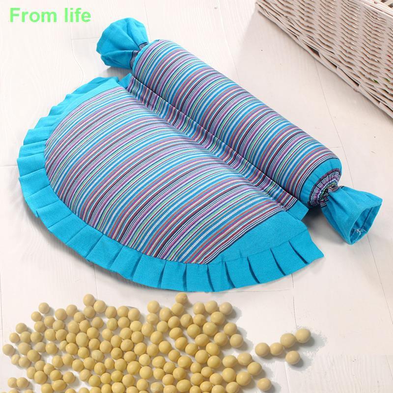 ✌✜黃豆頸椎枕頸椎專用修復枕頭蕎麥護頸枕成人矯正反弓病人黃豆枕芯