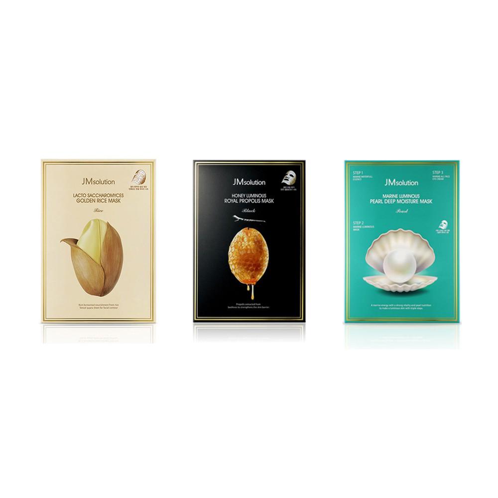 JM面膜 珍珠面膜 蜂蜜保濕面膜 黃金大米酵母面膜 韓國面膜(10片/盒) 全新正品/現貨供應 產品責任險