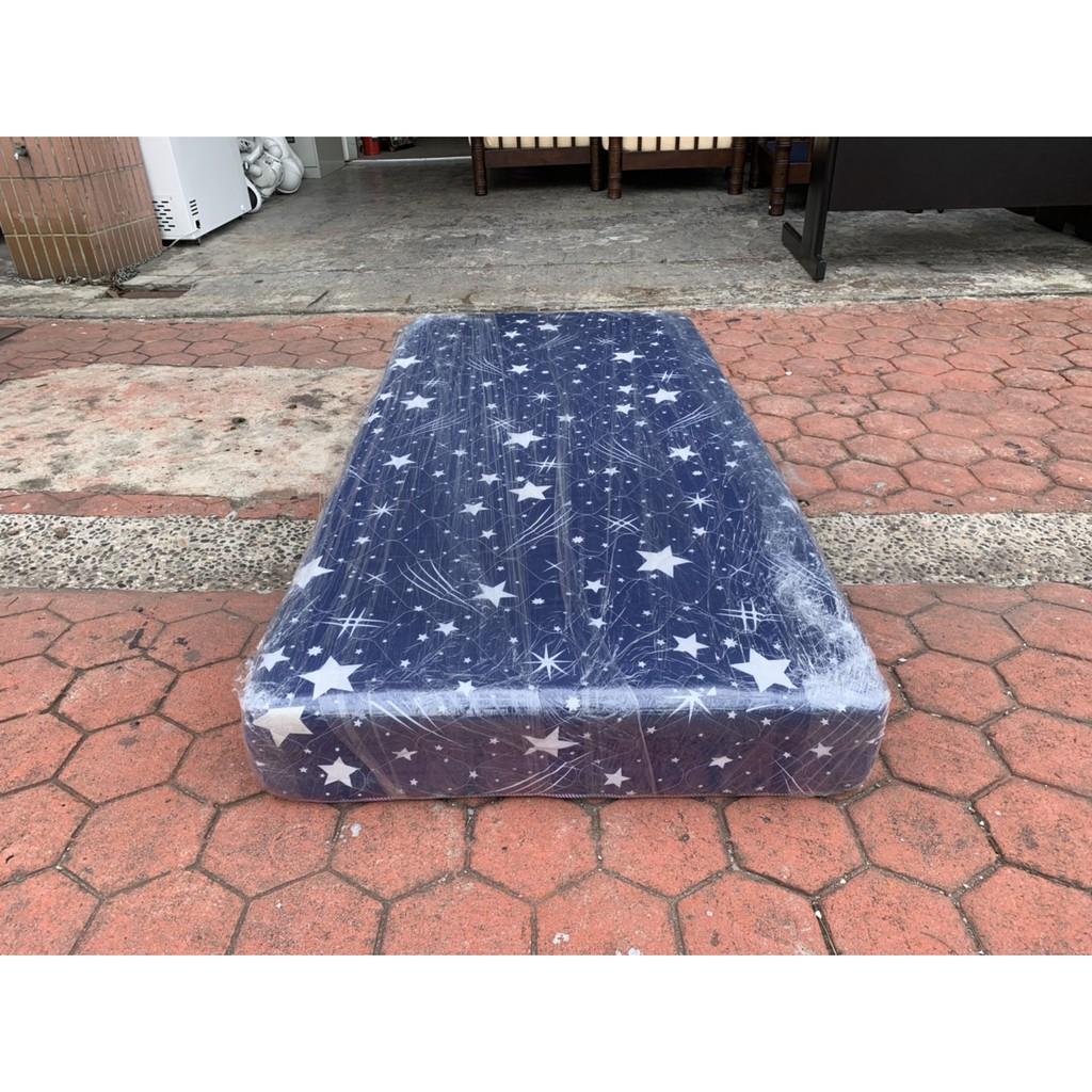 香榭二手家具*標準單人3x6.2尺 彈簧床墊-中古床墊-單人床-套房傢俱-特價床墊-寢具-床組-2手貨-台中傢俱-二手床