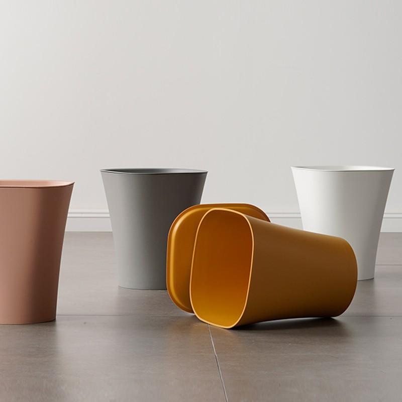 BH靚貨~~創意個性家用客廳收納桶北歐臥室塑料垃圾筒現代簡約辦公室圓紙簍
