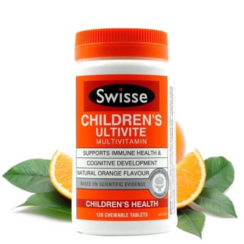 預購|澳洲Swisse兒童綜合維他命咀嚼片120粒