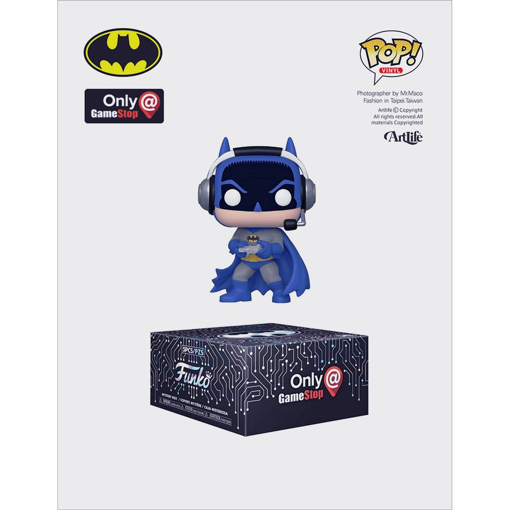 Artlife ㊁ FUNKO POP DC GameStop DC BATMAN 遊戲機 蝙蝠俠 限定品