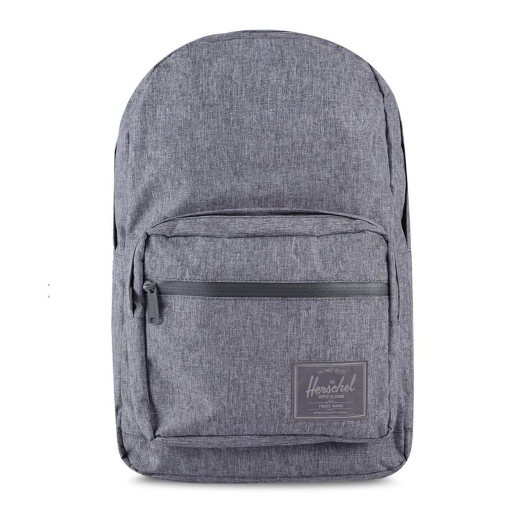 Herschel Pop Quiz 灰黑 灰色 黑色 全黑 防水拉鍊 帆布 防潑水 筆電夾層 大容量 後背包 背包 現貨