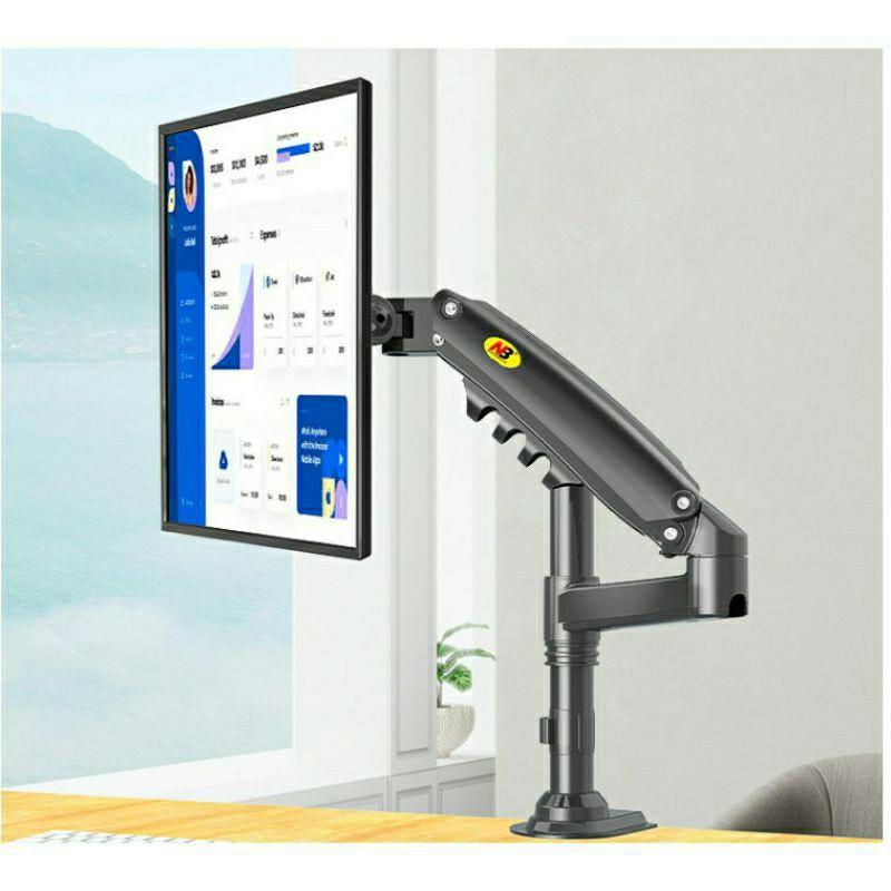 【祥禾科技】NB H80 (17~27)吋適用鋁合金桌上型/萬向升降旋轉/氣壓螢幕架