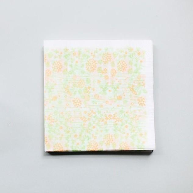 倉敷意匠 x 點線模樣製作所 餐巾紙【小花園 (26546-04)】 岡理惠子