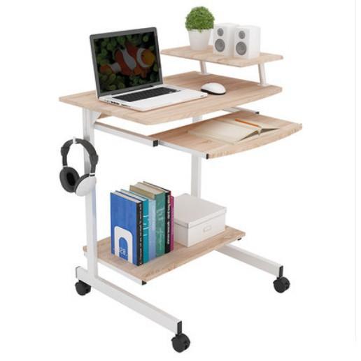 電腦桌 現代電腦桌 臺式家用移動桌 筆記本省空間簡約桌子 70cm小型寫字臺 臥室簡約寫字桌