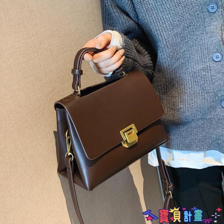 手提包 北包包質感小包包新款潮斜背包時尚女包手提百搭復古側背小眾