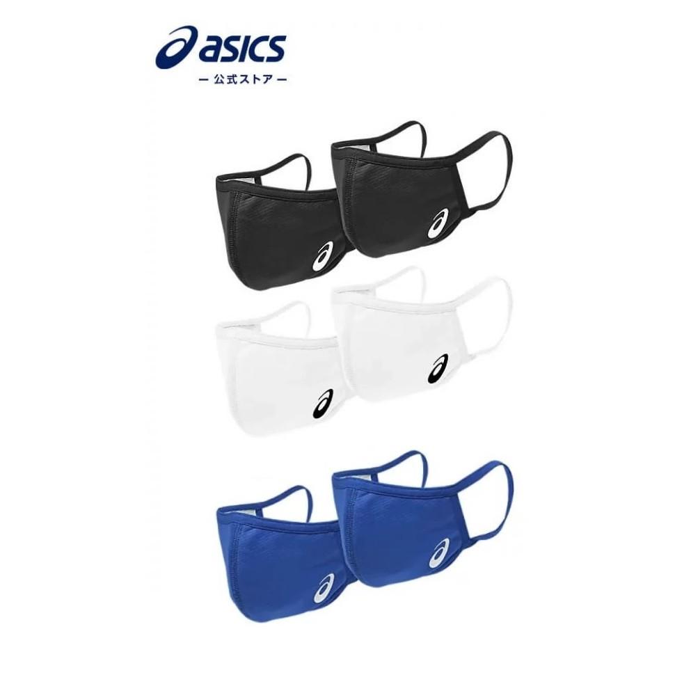 日本 ASICS 亞瑟士 抗菌防臭加工設計透氣舒適防止飛沫可水洗運動口罩(非醫療用) 東奧合作夥伴 日本原裝進口單個販售