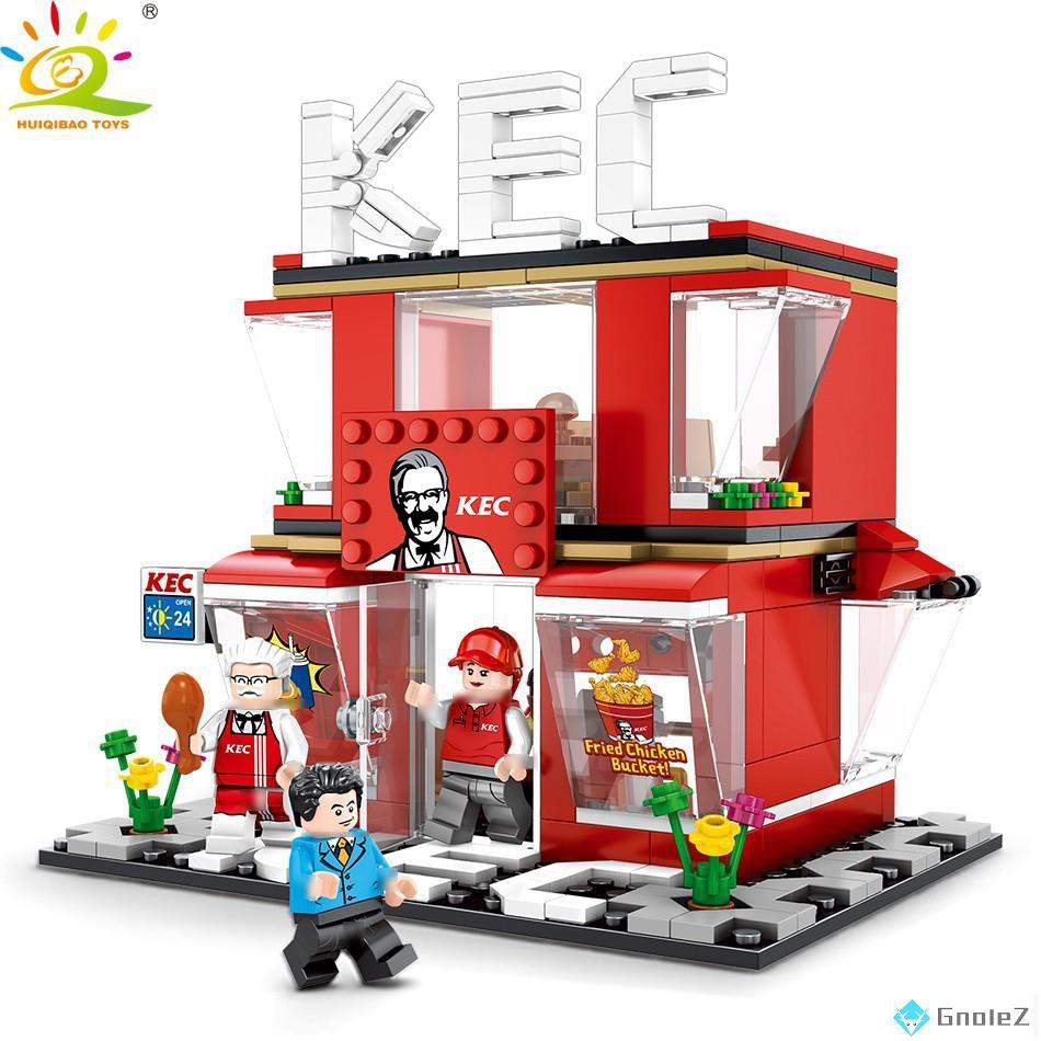 積木 60108 迷你街景 相容樂高 LEGO 街景積木 城市系列 哈根達斯 7-11 麥當勞 星巴/笑哈哈精品玩具