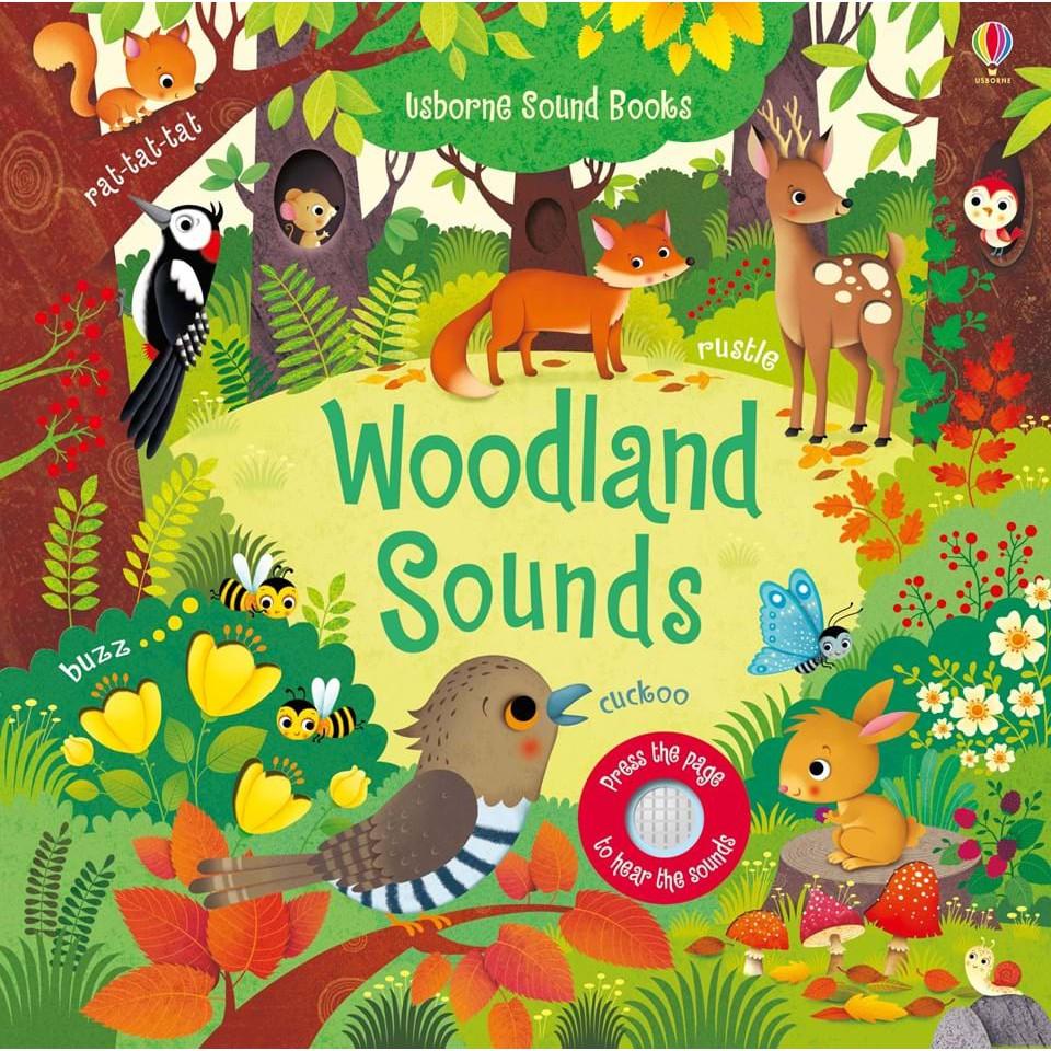 【英國Usborne】觸控音效書Woodland Sounds 硬頁音效書