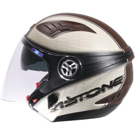 ASTONE DJ10C-OO11 消光咖啡 內墨鏡 透氣 吸濕排汗 全可拆洗 3/4罩 安全帽《淘帽屋》