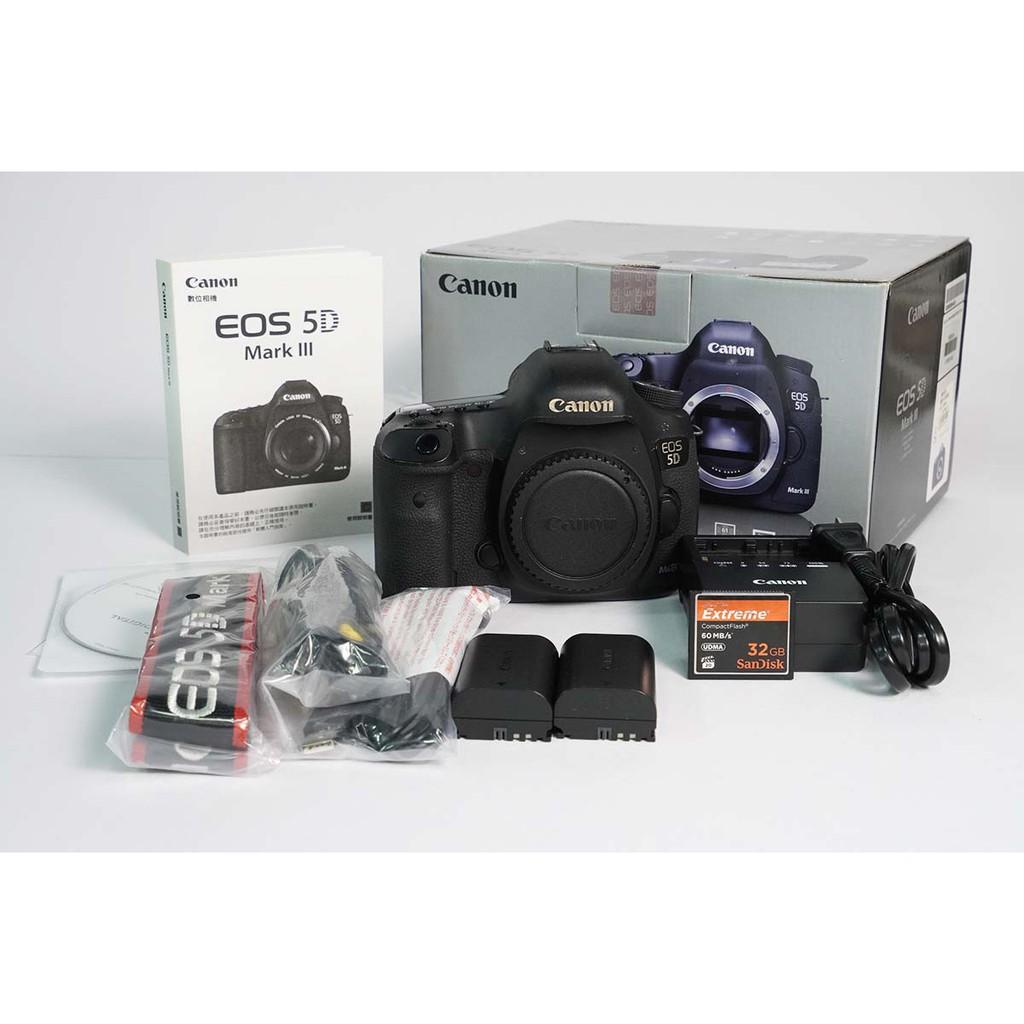 [攝手座二手器材]Canon 5D MARKIII-(B)單機身 5D3 快門 253,271 公司貨過保 有盒無保証書