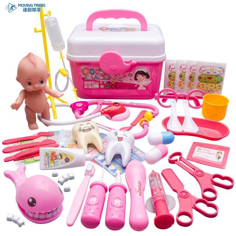 兒童醫生玩具套裝女孩男孩聽診器寶寶打針過家家仿真醫療箱救護車