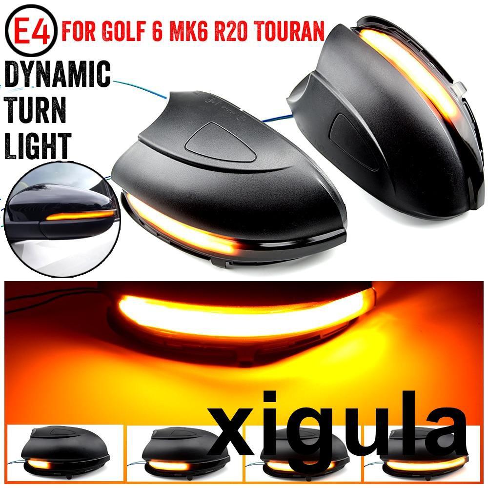 全館免運 大衆VW GOLF 6 MK6 GTI R32 Touran 動態燈 LED 轉向燈 後視鏡 方向燈 A311