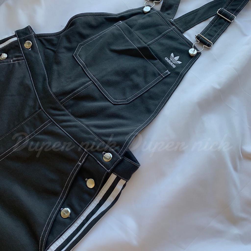 Adidas originals 灰 吊帶褲