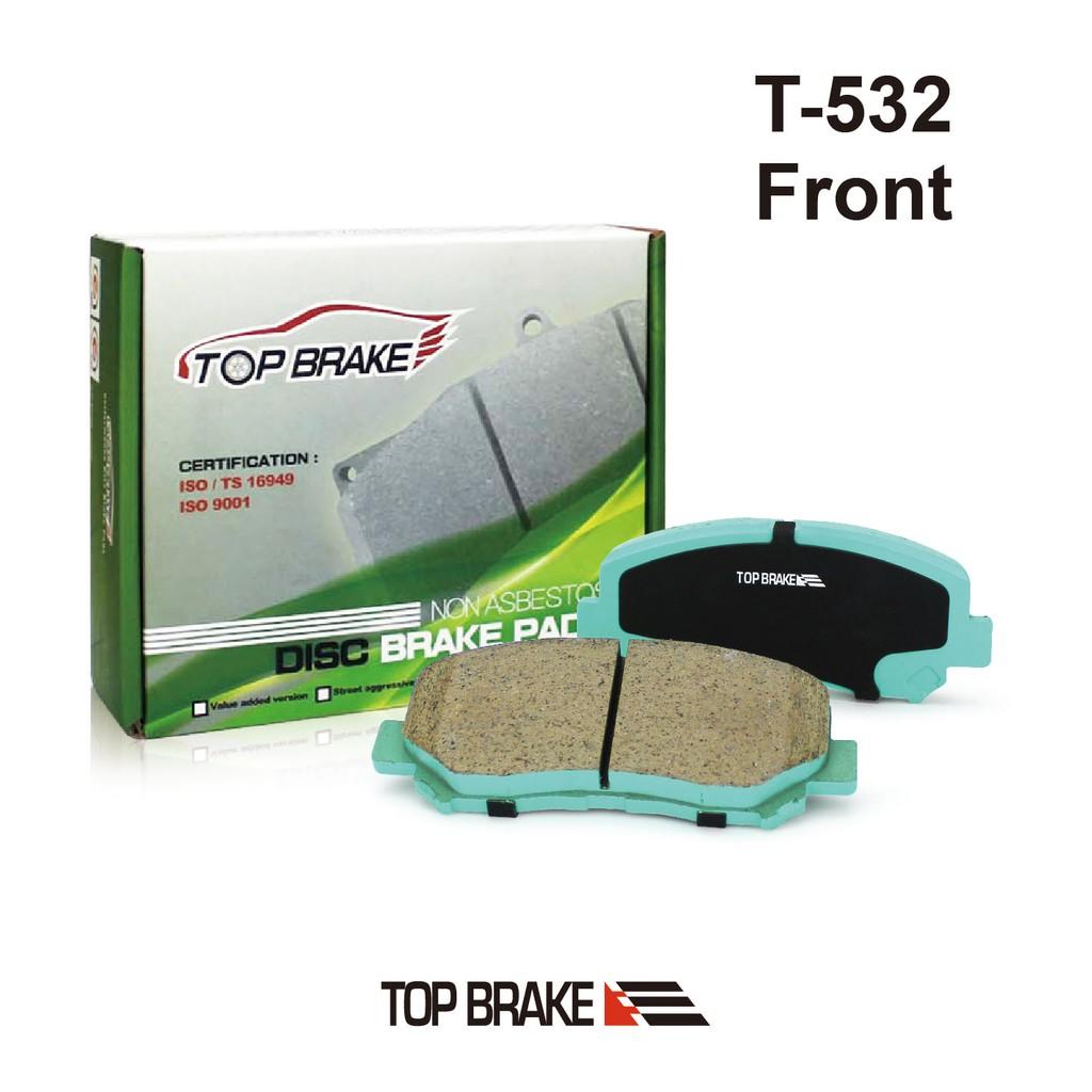 TOPBRAKE TOYOTA Previa 3.5 阿爾法Alphard 汽車前碟煞車來令片-特約店免安裝費 T532
